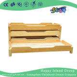 Children Simple Natural Wood School Bed for Sale (HG-6404)