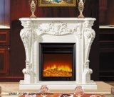 CNC Natural White Marble Design for Indoor Fireplace Mantel Low Price for Sale
