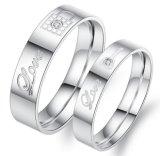 Never Darken Titanium Steel Love His and Hers Key Lock Couple Ring Set Romantic Lovers Wedding Band Cute Jewelry