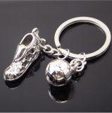 Metal Football Key Chain Fancy Ring