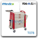Hot! ! China Medical ABS Trolley Hospital Emergency Treatment Cart