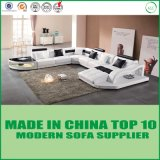 Modern Classic Furniture Leather Sectional Sofa with Chaise