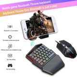 Wired Mouse and Keyboard Wrist Rest Mobile Phone Mini Gamer Mechanical Wired Pubg LED One Hand Gaming Keyboard and Mouse