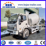 Jsx Brand Self Loading Mobile Concrete Mixer Truck for Sale