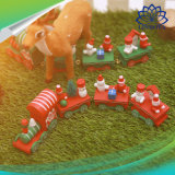 2018 Christmas Home Decoration Wood Train Promotional New Year Gift Children Car Toy