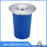 Plastic Body Stainless Steel Cover Bin Kitchen Worktop Bins Countertop Wast Bin