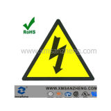 Custom Semi Glossy Clear Permanent Water Resistant Car Safety Warning Labels