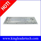Stainless Steel Industrial Keyboard with Optical Trackball