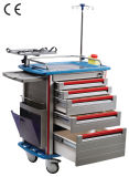 Hospital Furniture Emergency Trolley with CE