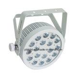 DMX512 White Housing LED Warm Cool White PAR Light for Studio. Stage. Camera, Video