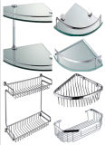 Bathroom Accessories Glass Stainless Steel Shelf