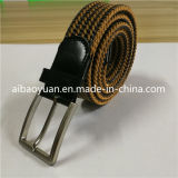 Leather Strap and Nylon Yarns Braided Belt, Strap Belt