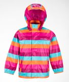 Cute Half PU Rainbow Color Kid Raincoat