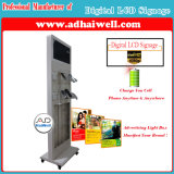 Android Advertising Media Player Digital Signage with Mobile Phone Free Charging Station