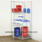 Modern Chrome Pentagon Corner Storage Rack for Home Use (CJ6868120A4C)