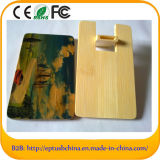 Wooden USB Memory Credit Card USB with Custom Logo