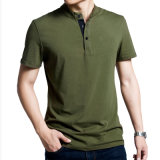100% Cotton Pique Fabric Army Green Polo Shirt