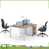 Metal Leg Desktop Panel Table 2 Person Office Partition