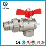 Female/Male Thread Angle Type Brass Ball Valve