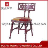 Iron Powder Coating Wooden Seat Metal Chair Restaurant Furniture