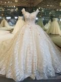 New Arrival Ball Gown Lace Stripe Pattern Wedding Dress