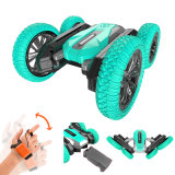 360 Degrees 2.4GHz Electric Remote Control Car Double Sided Tipping Racing RC Stunt Toy Car with Light for Children Gifts
