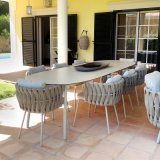 Rock Slabs/Ceramic/Marble Glass for Outdoor Living Furniture Table Tops