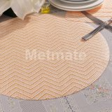 Dinner Plate Plastic Cheap Discount Round Placemats on Square Table