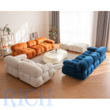 Living Room Furniture New Corner L Shaped Sofa Couch Set Luxury Modern White L Shape Sofa Sectional DIY Tufted Sofa