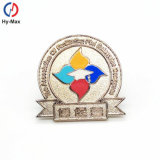 Metal Material and Folk Art Badge Souvenir Style China Lapel Pin Badge