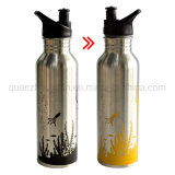 OEM Stainless Steel Porcelain Promotional Outdoor Camping Hiking Color Changing Water Bottle