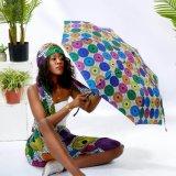 Hot Selling Stylish African Print Umbrella Waterproof and UV Protection Umbrella Fully-Automatic Short Umbrella Wholesale Price