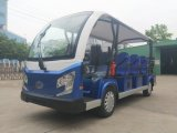 12 Seater 72V Aluminium Chassis Electric Sightseeing Car with Bus Seat