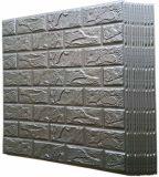 Silver Grey 3D Foam Brick Wallpaper Wall Panels Peel Stick by Poppap Tiles
