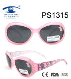 Most Popular Cartoon Pink Colorful Kid Plastic Sunglasses (PS1315)