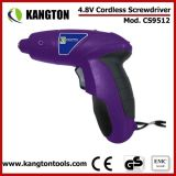 Rechargeable 4.8V Cordless Electric Screwdriver Kit (KTP-CS9512)