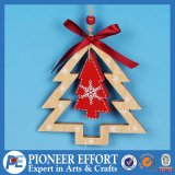 Christmas Mini-Tree with Red Ribbon for Hanging Ornament