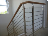 Grade Inox 304&316 Balcony Rod Balustrade / Cable Railing / Wire Balustrade