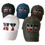 6 Panel Washed Baseball Caps with Applique (6PWS1228)