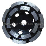 Single or Double Row Diamond Cup Grinding Wheel for Concrete