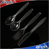 Flatware Set Transparent Disposable PS Plastic Cutlery Set Spoon Knife Fork, Plastic Picnic Sets