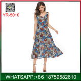 New Arrive Casual Summer Floral Printing Sleeveless Woman Dress