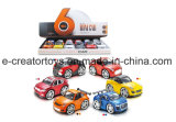 Cartoon Alloy Car with Music and Light Electronic Vehicle Toys
