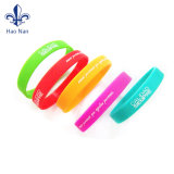 Colorful Debossed Fashion Jewelry Silicon Bracelet