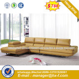 White Color Living Room Top Grain Genuine Leather Sofa (HX-8N2167)