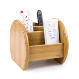 Wooden Desk Stationery Organizer Bamboo Color