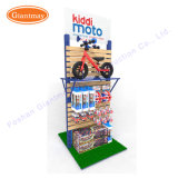 Double Sides Wholesale Trade MDF Slatwall Children Moto Bicycle Display Stand Shelving