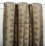 Brown Cheap Polyester Jacquard Curtain Fabric 280cm