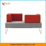 Cheap Italian Leather Public Sofa, 2 Seaters Sofa Office furniture, Public Reception Sofa