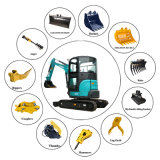3ton Hydraulic Mini Excavator Digger/Digging Machine with Competitive Prices